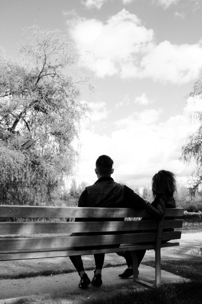 Jen & David on a bench